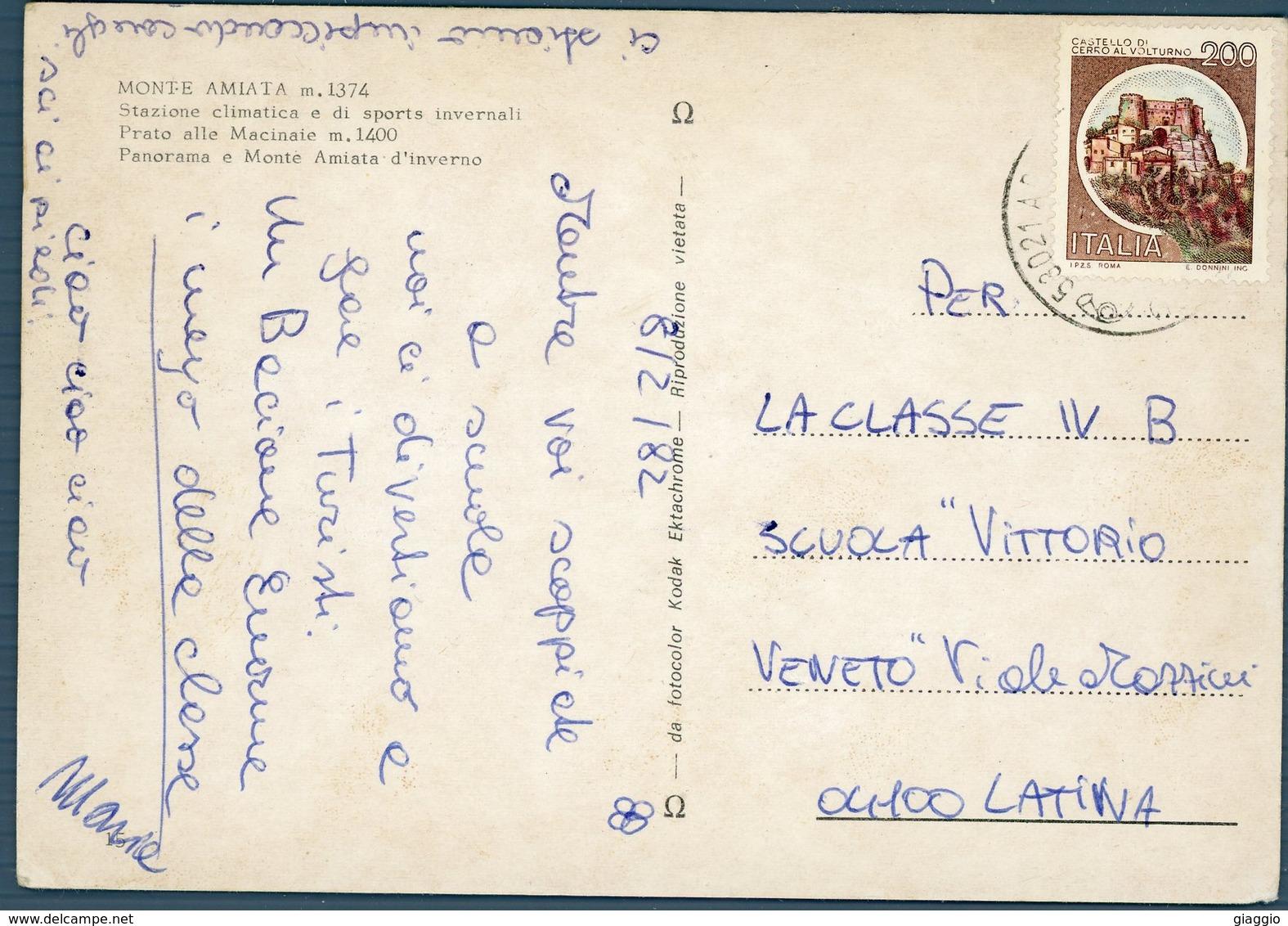 °°° Cartolina N. 4 Monte Amiata Stazione Climatica Viaggiata °°° - Rieti