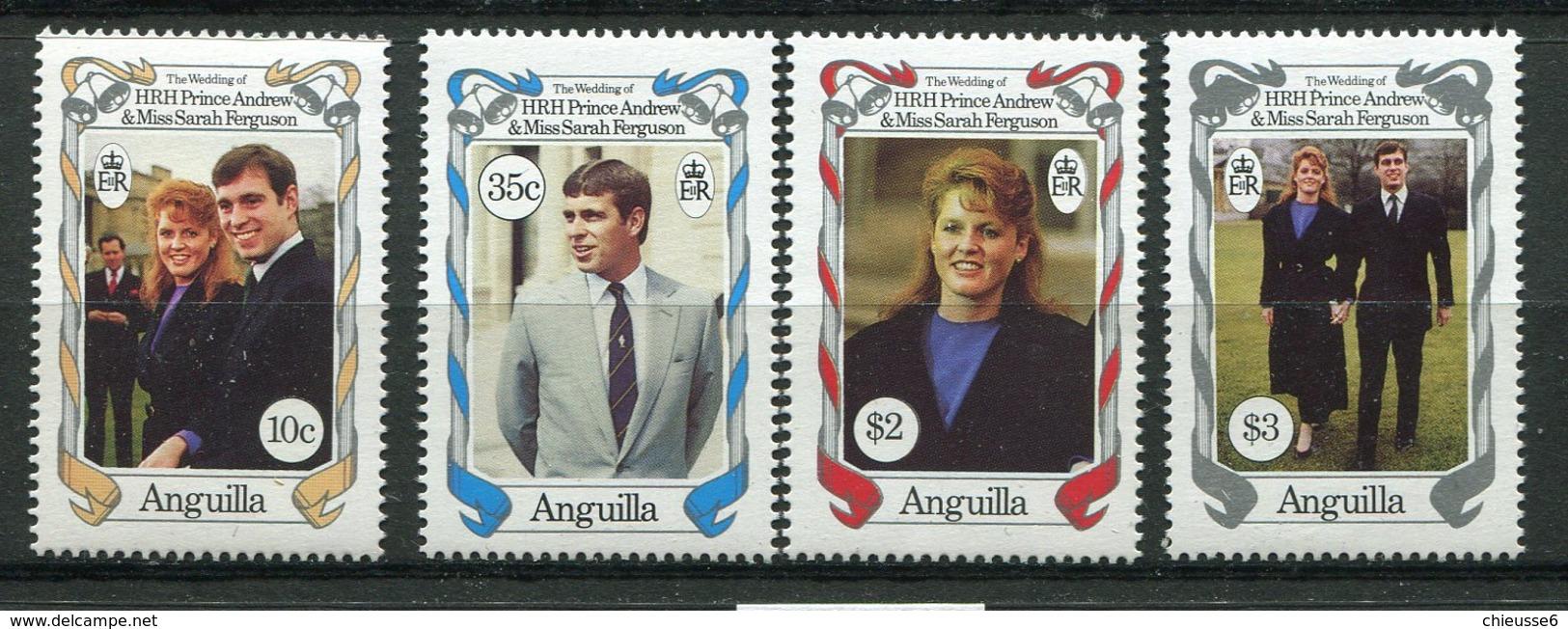 Anguilla ** N° 645 à 648 - Mariage Du Prince Andrew Et De Miss Sarah Fergusson - - Anguilla (1968-...)
