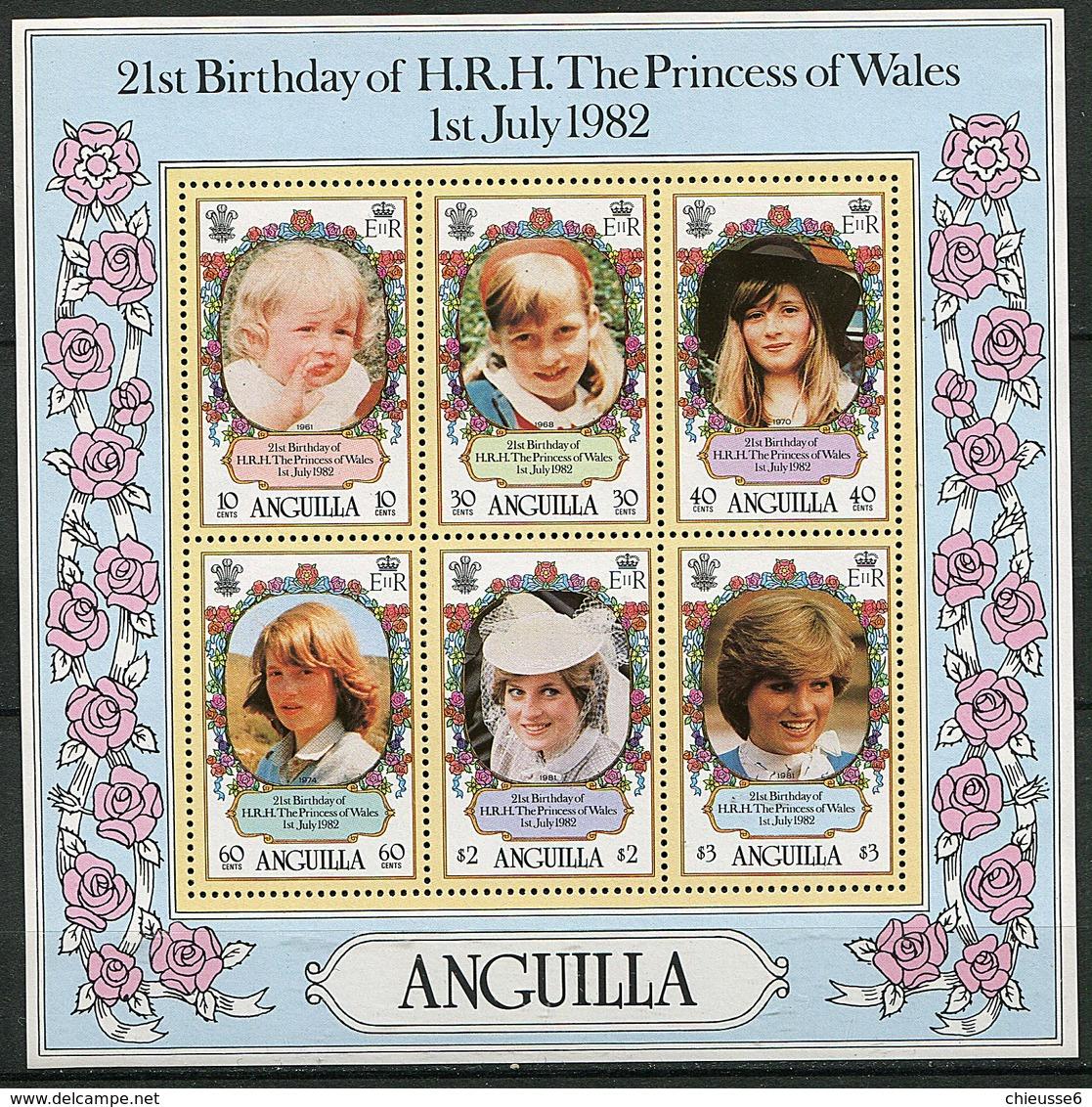 Anguilla ** Bloc 42 - 21e Ann. De La Princesse De  Galles. Portraits - - Anguilla (1968-...)