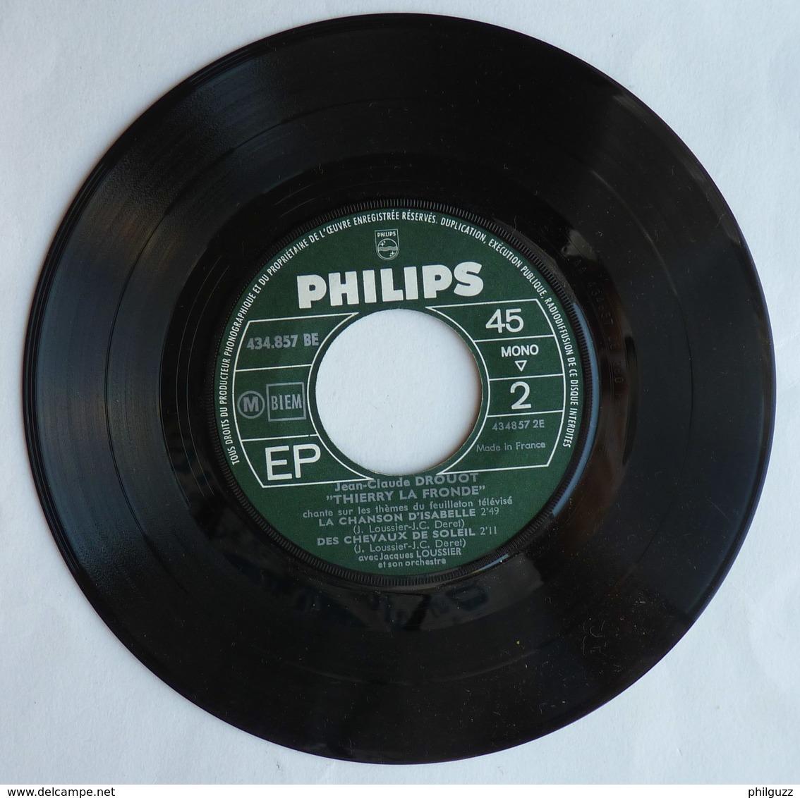 Disque Vinyle 45T THIERRY LA FRONDE LA MARCHE DES COMPAGNONS -  JC DROUOT - PHILIPS 434 857 - ORTF 1964 - Disques & CD
