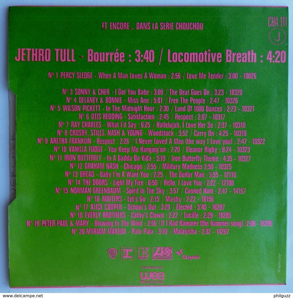 DISQUE 45T JETHRO TULL BOUREE LOCOMOTIVE BREATH  Série Chouchou  Cha 111 - Rock