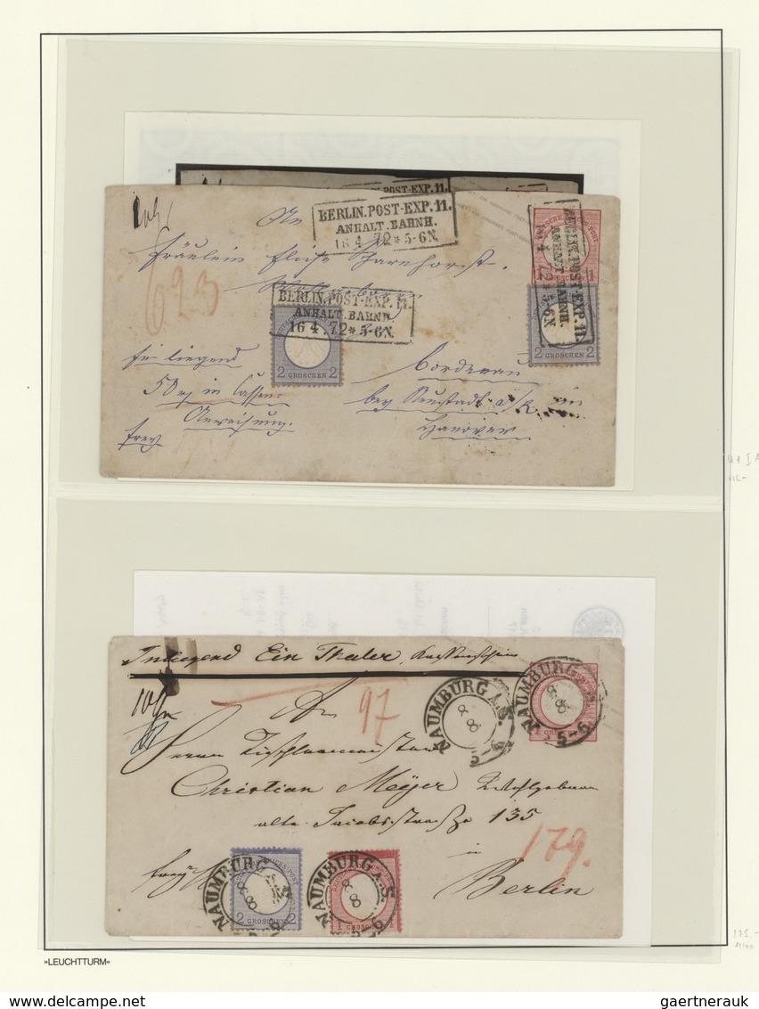 Deutsches Reich - Ganzsachen: 1872/74, Sammlung Von 68 Brustschild-Ganzsachen Dabei 11 GA Mit Zusatz - Duitsland