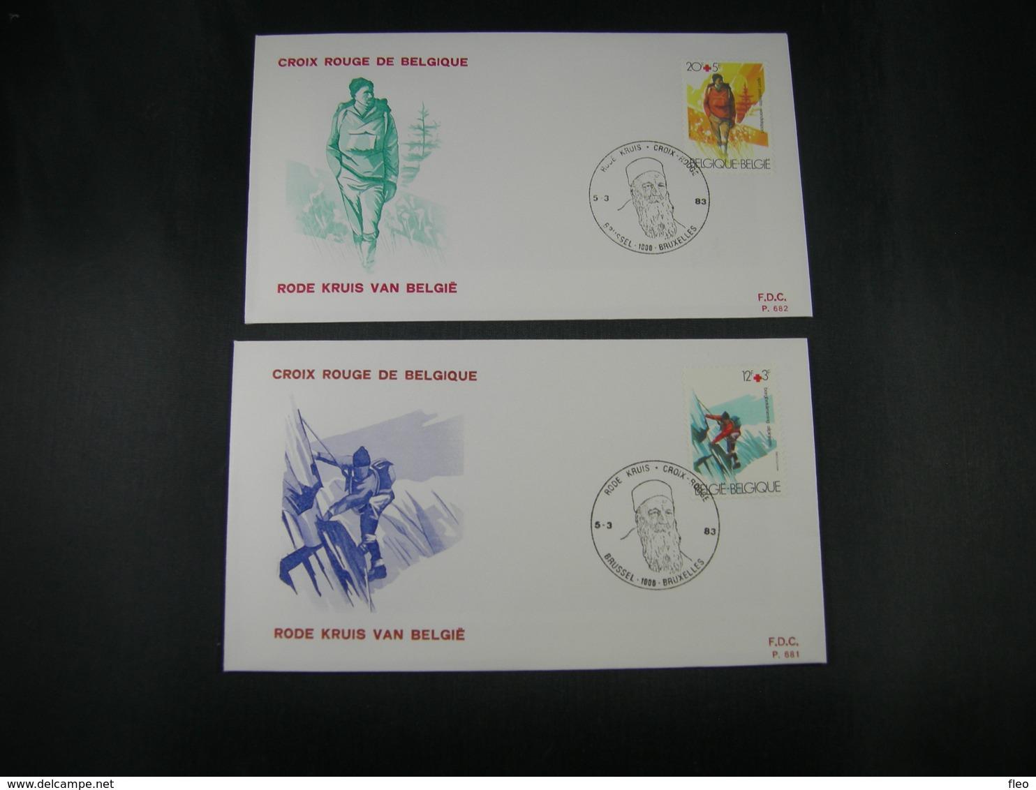 "BELG.1983 2082 & 2083 FDC's ( Brus ): "" Croix Rouge / Rode Kruis "" - FDC"