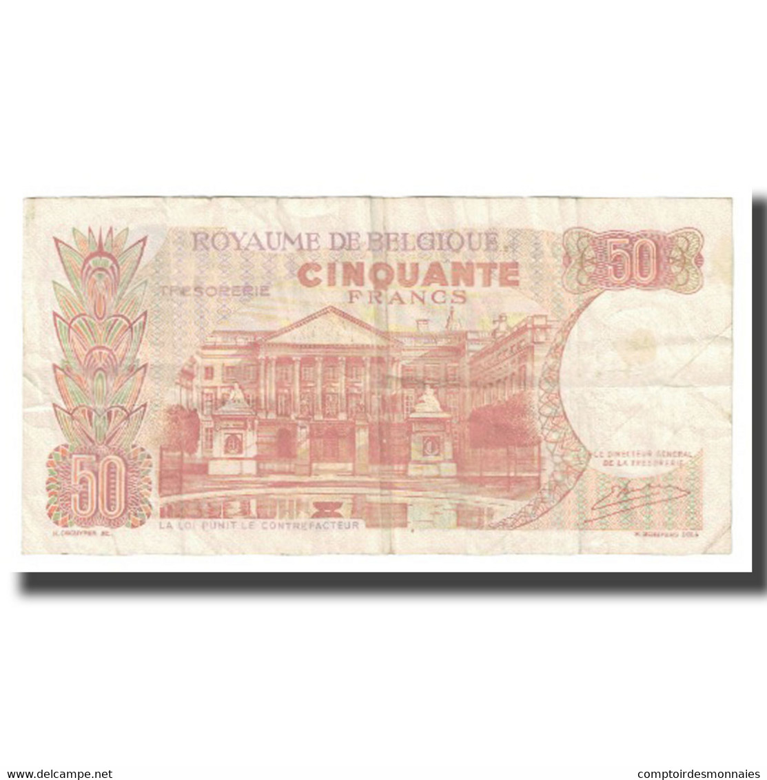 Billet, Belgique, 50 Francs, 1966, 1966-05-16, KM:139, TTB - [ 6] Treasury