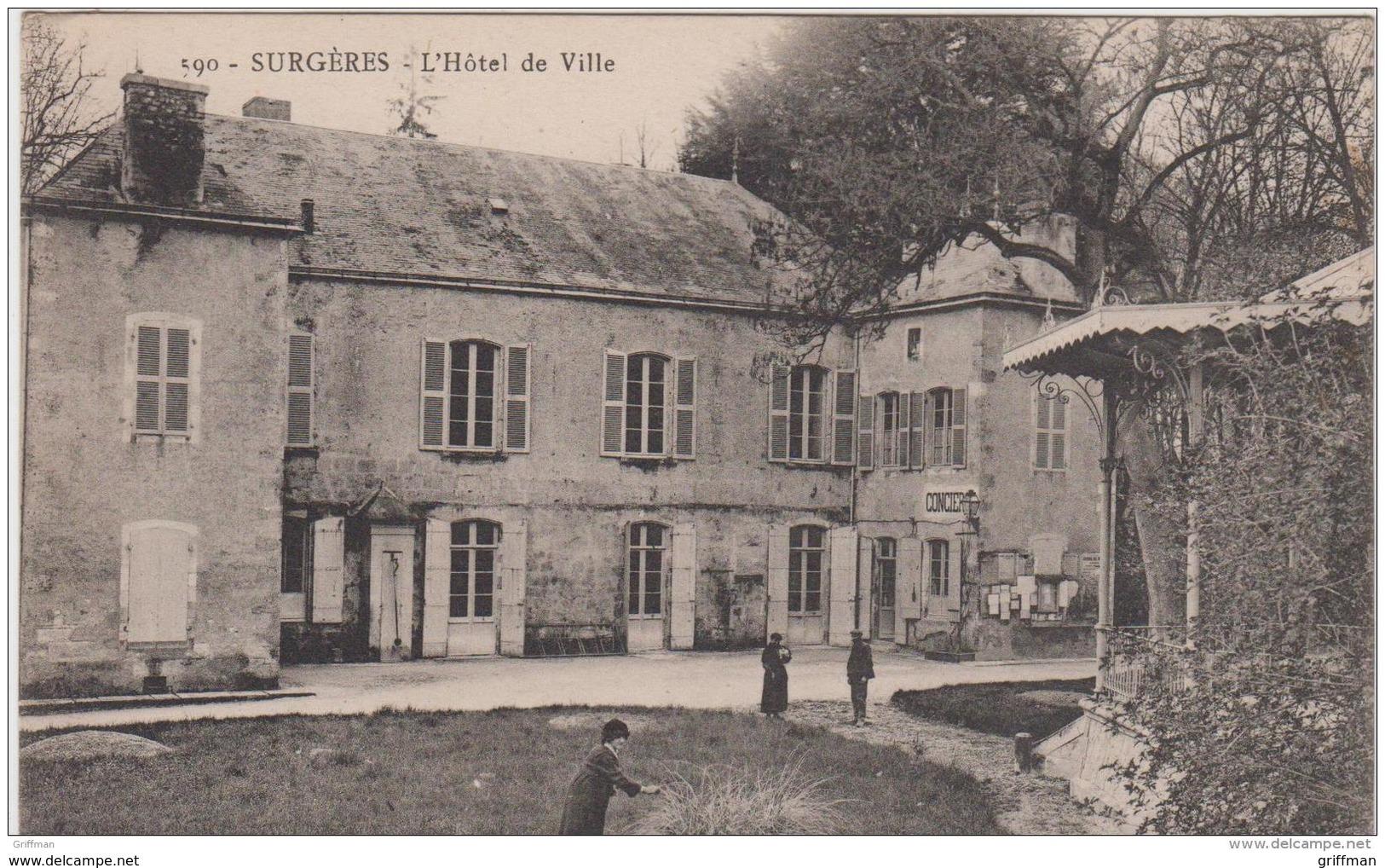 SURGERES L'HOTEL DE VILLE TBE - Surgères