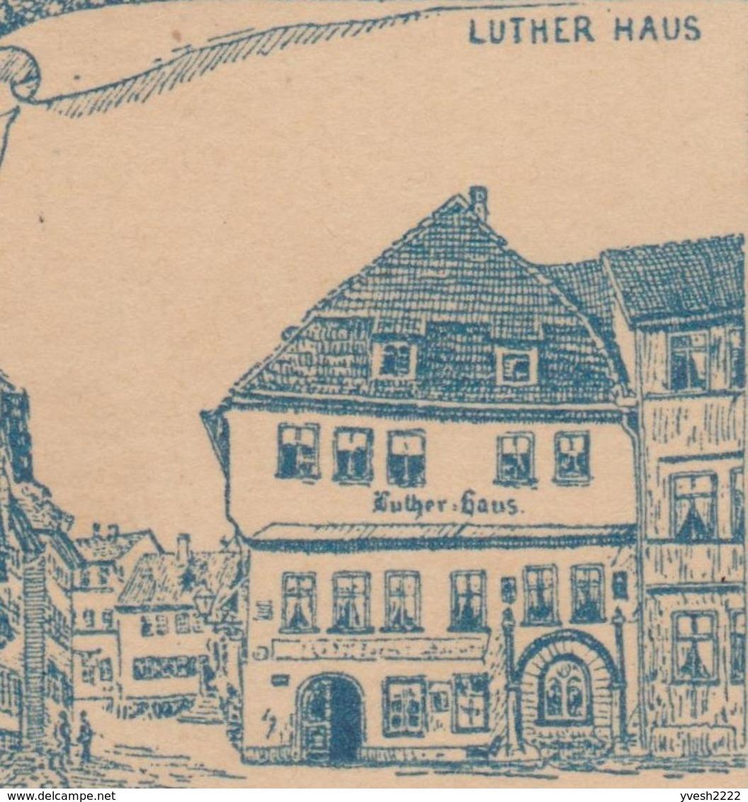 Allemagne 1893. Entier Postal TSC. Le Château De La Wartbourg (patrimoine UNESCO), Lutherstube Et Maison Luther - Theologians