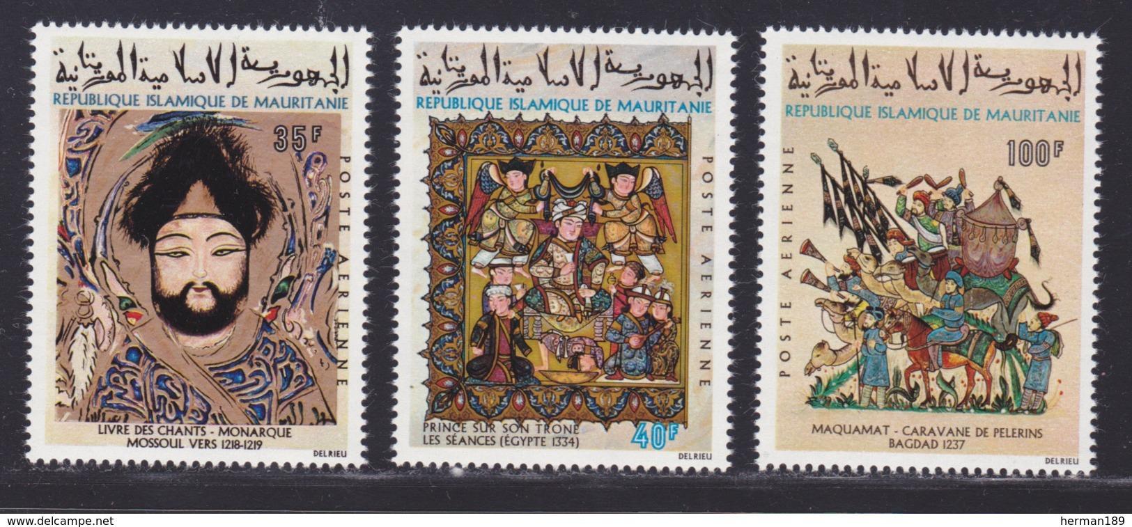 MAURITANIE AERIENS N°  117 à 119 ** MNH Neufs Sans Charnière, TB (D7394) Miniatures Musulmanes - Mauritania (1960-...)
