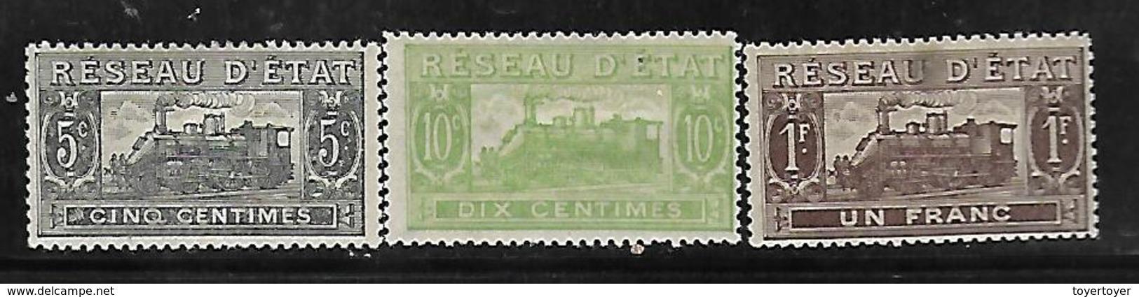Fg187  France Colis Postaux N°9-10-13 N+ - Colis Postaux