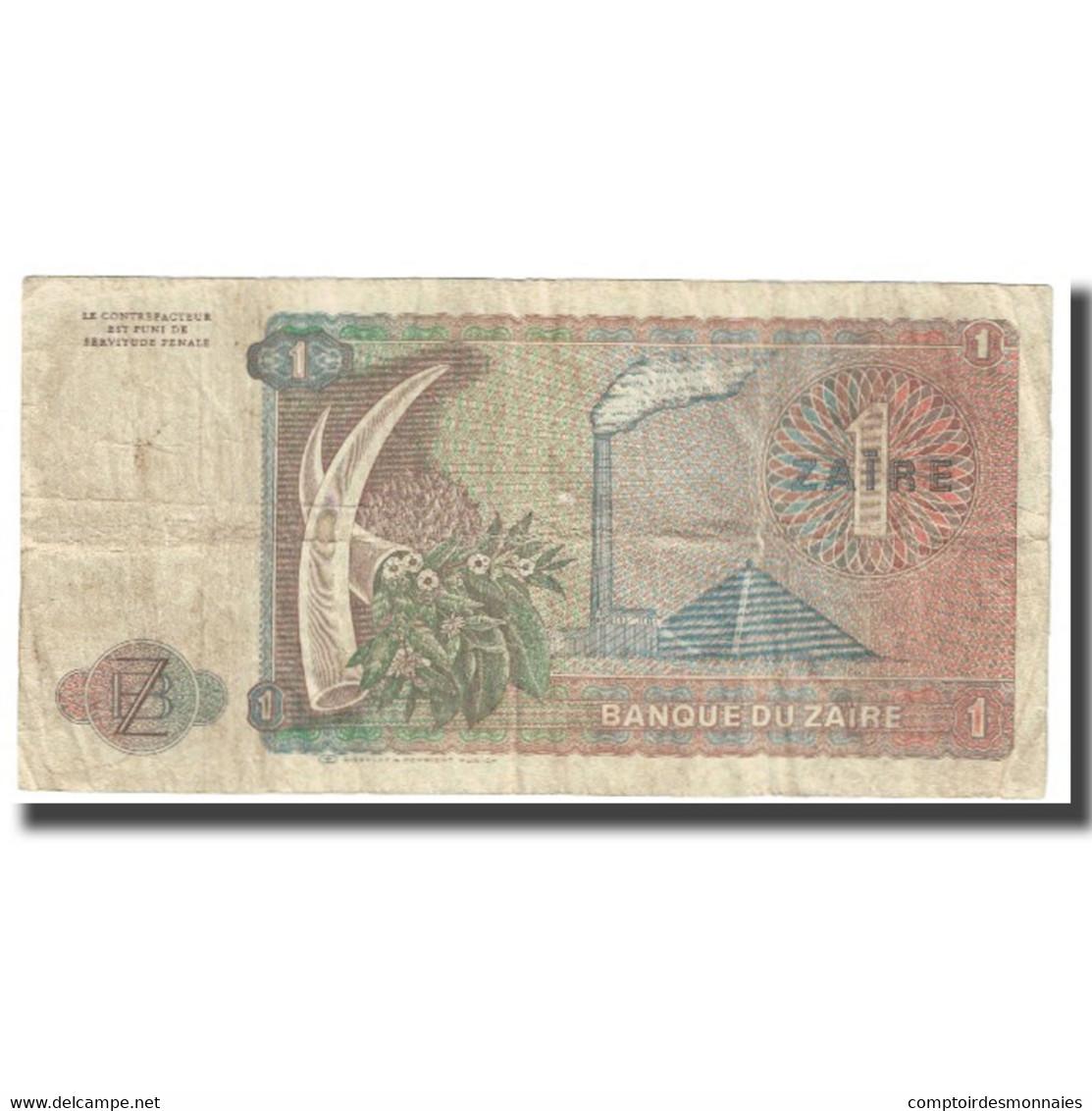 Billet, Zaïre, 1 Zaïre, 1979, 1979-10-22, KM:19a, TTB - Zaïre