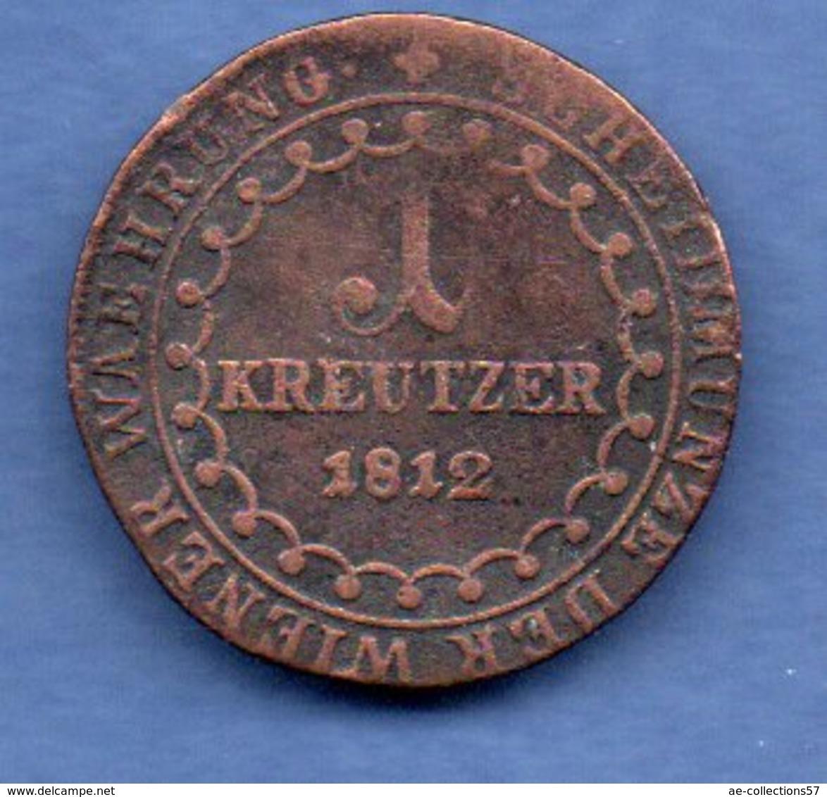 Autriche -  1 Kreuzer  1812 S -  Km # 2112   --  état B+ - Autriche