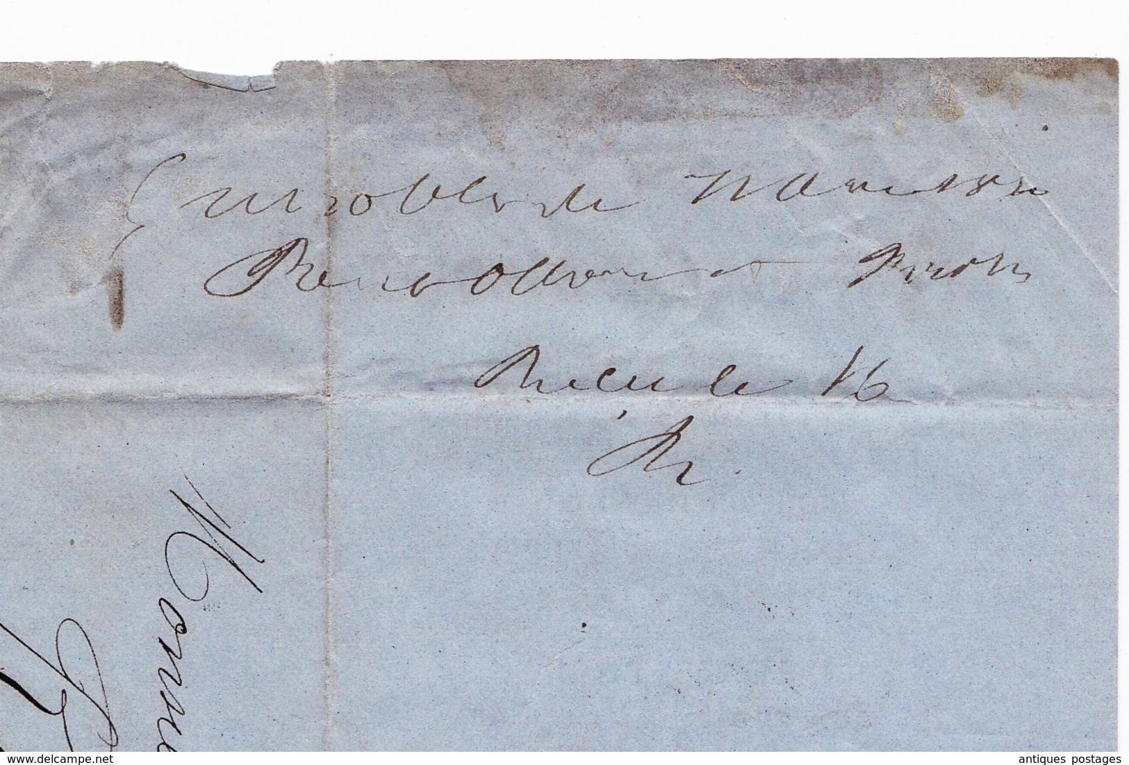 Lettre 1870 Grenoble Isère La Mure Paire Napoléon III Lauré 10 Centimes Pont Ollion Nicolet Fer Fonte Acier Métaux - 1863-1870 Napoleon III Gelauwerd