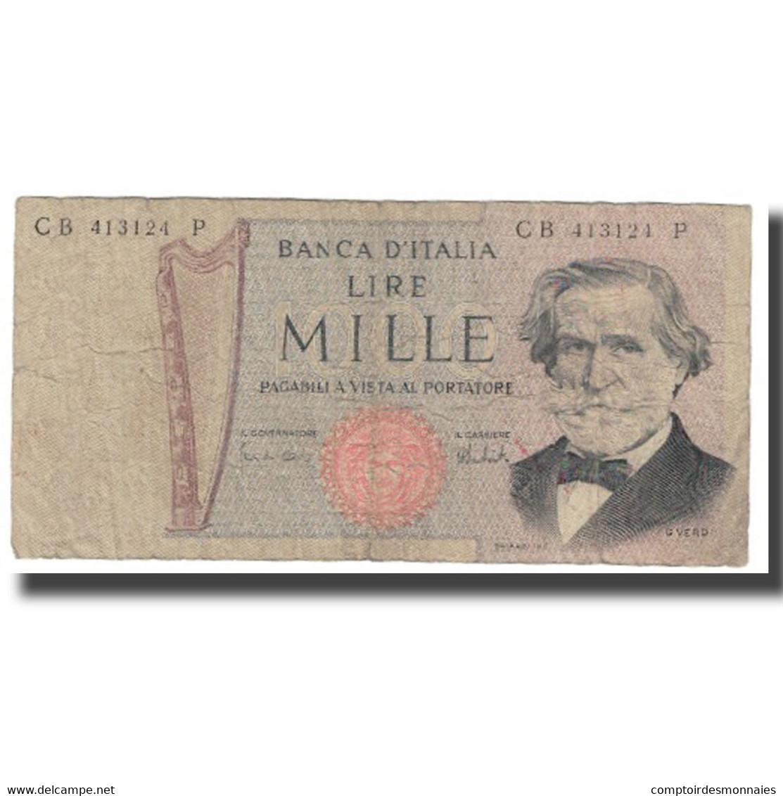 Billet, Italie, 1000 Lire, KM:101d, TTB - [ 2] 1946-… : République