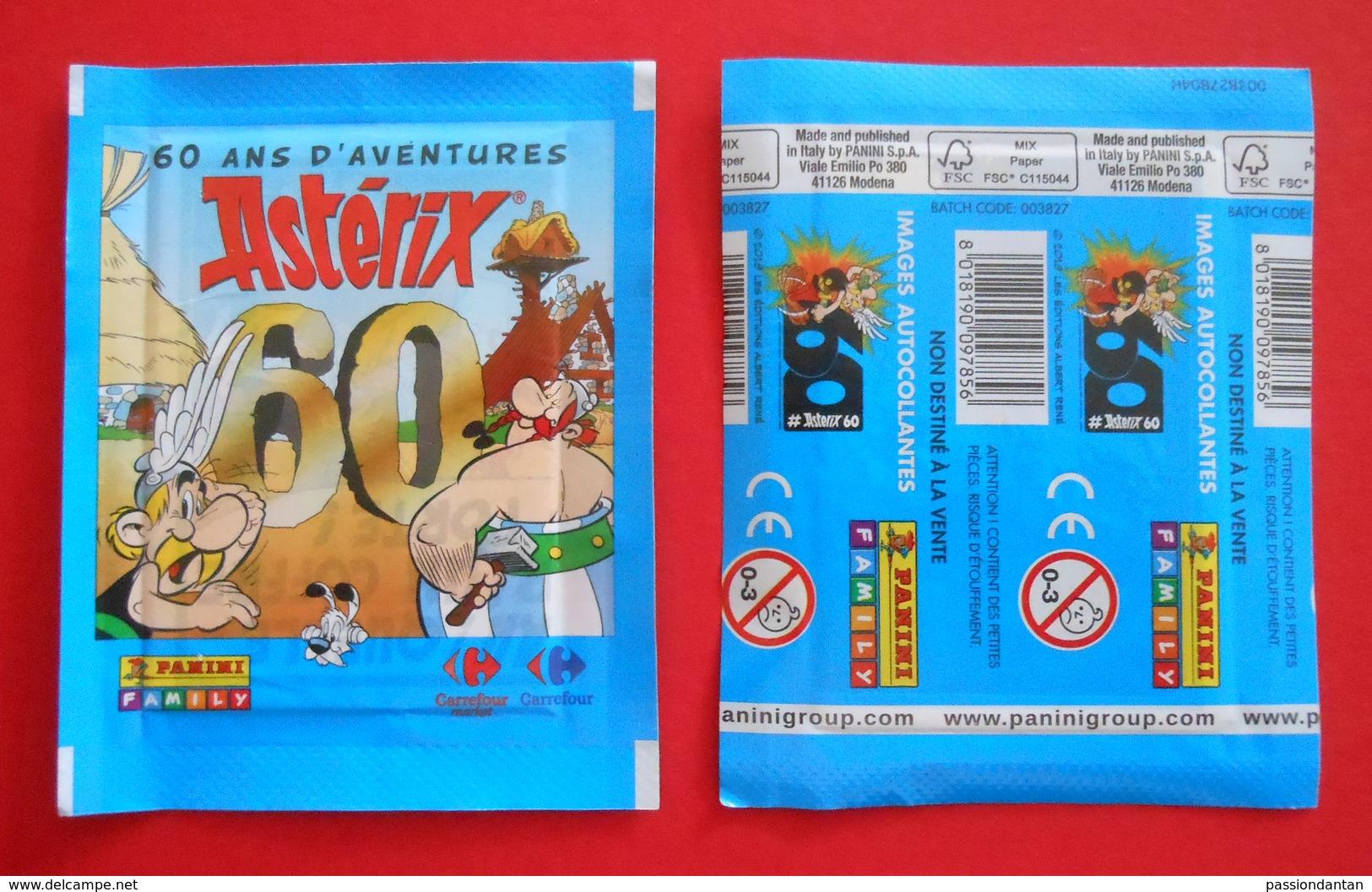Vingt Pochettes Panini Neuves - Astérix - 60 Ans D'aventures - French Edition
