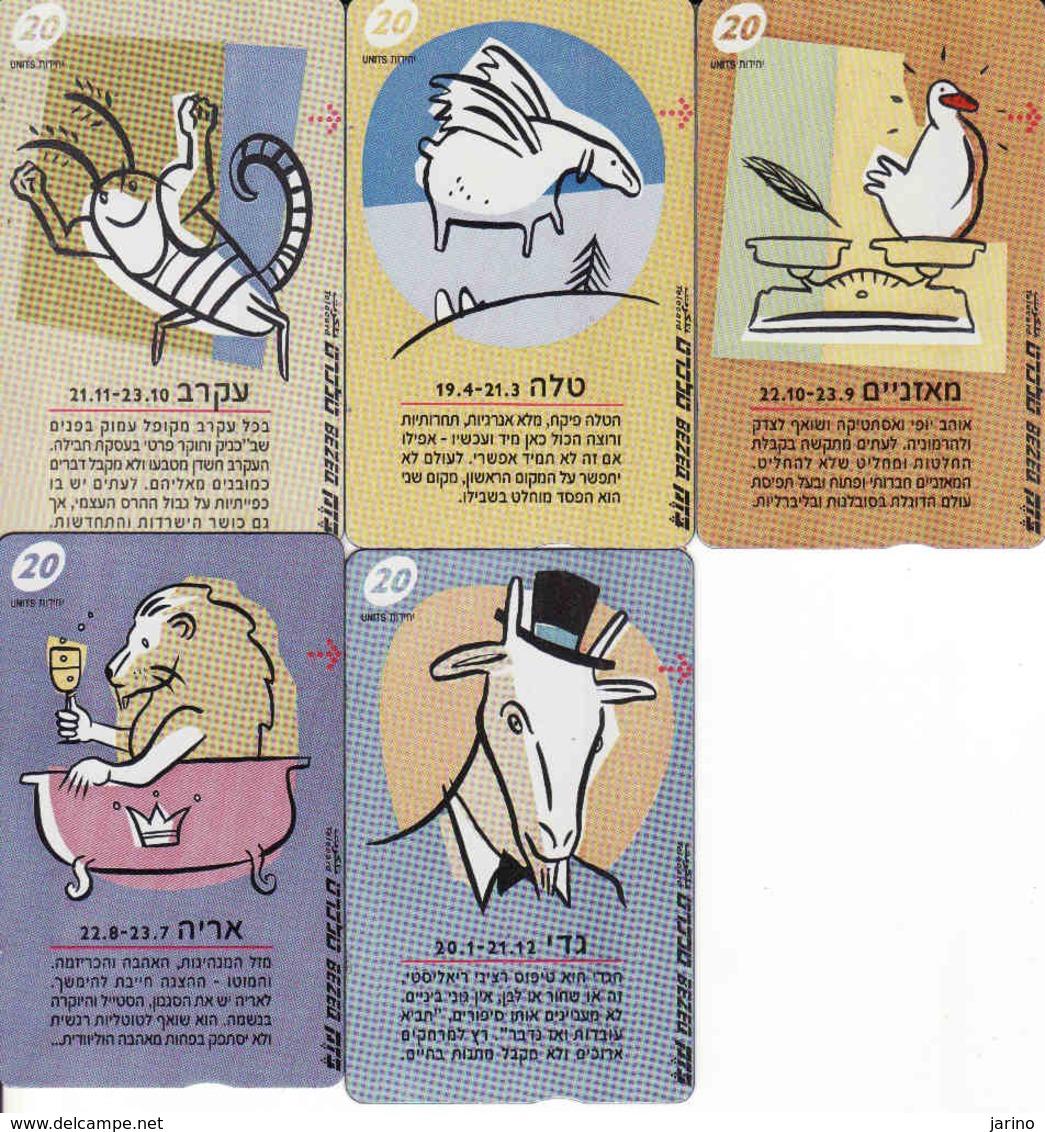 Horoscope - Zodiac, Israel 5 Pieces - Zodiaco