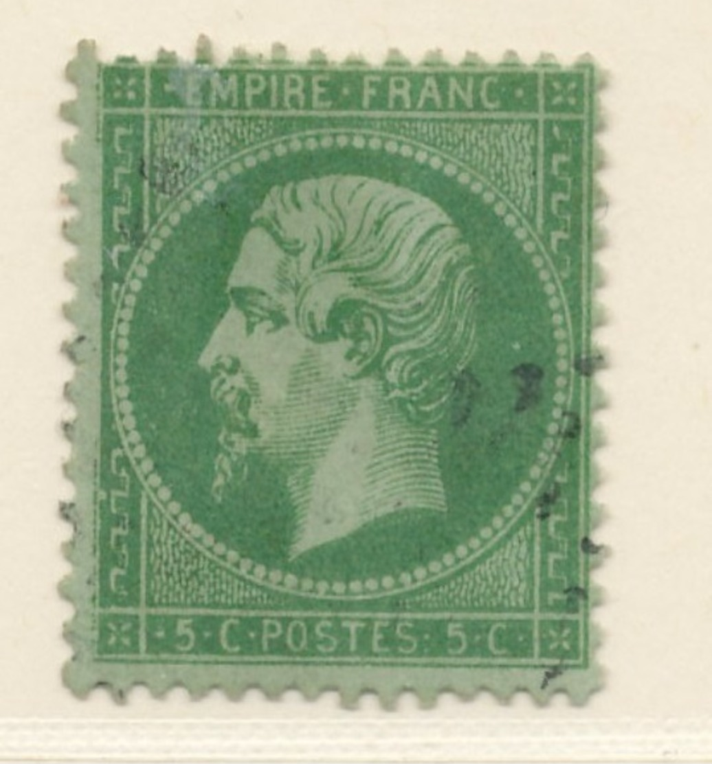 N°20 VARIETE SANS FILET GAUCHE. - 1862 Napoleon III