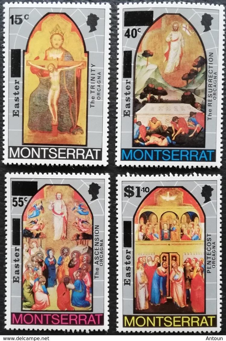Montserrat   1976 Easter Surcharged On 40 C And 55 C - Montserrat