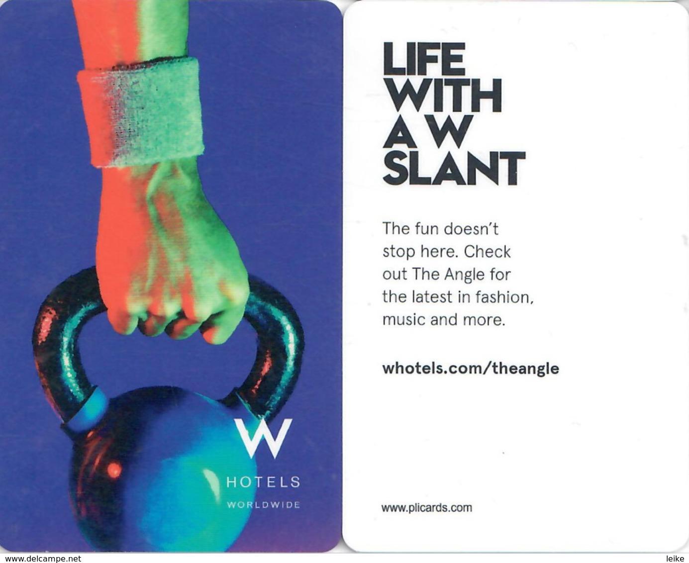 W Hotels Life With A W Slant--2031------Hotel--key Card, Room Key, Schlusselkarte, Hotelkart - Hotel Keycards