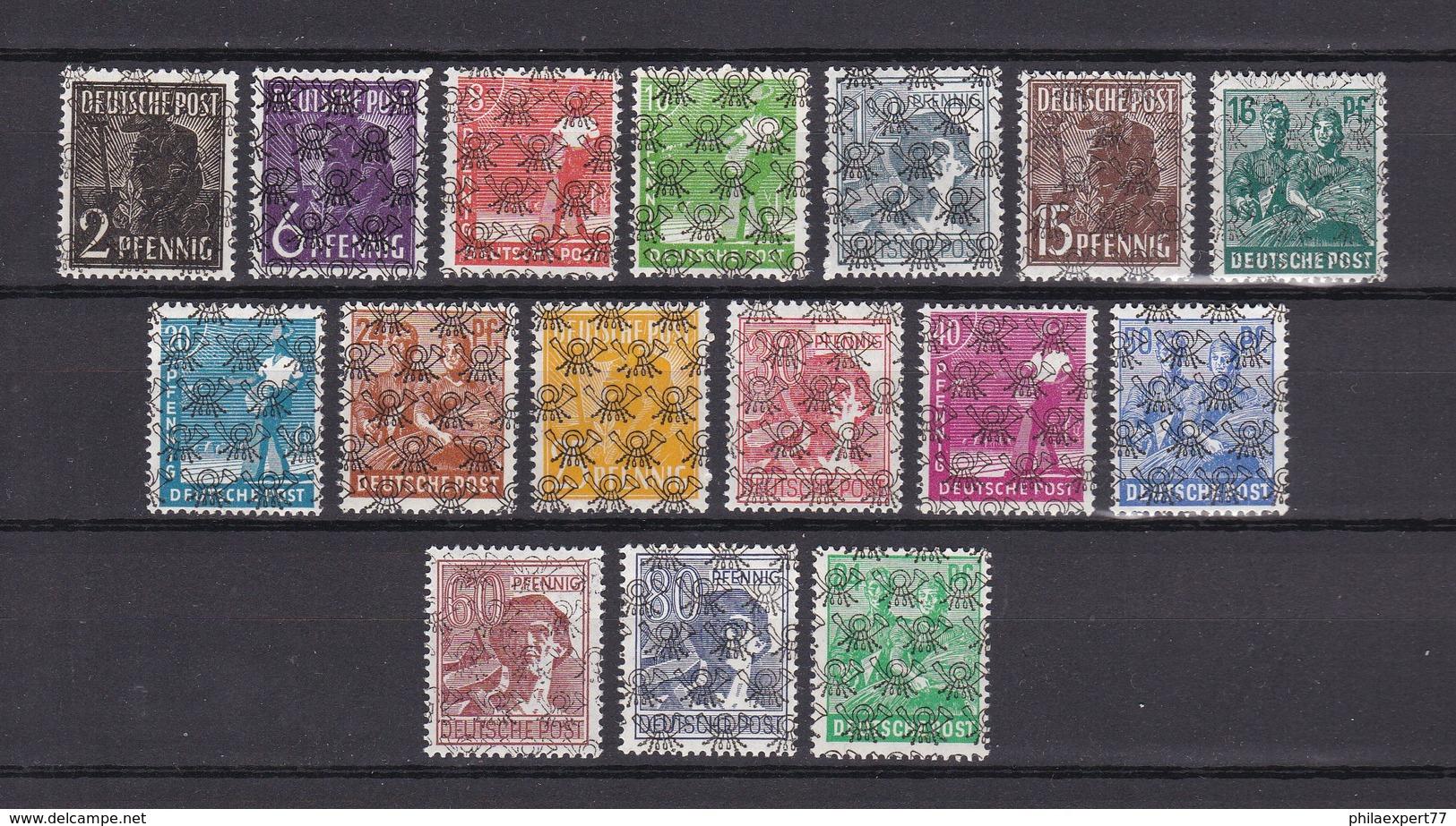 US & Britische Zone - 1948 - Michel Nr. 36/51 II - Postfrisch - 25 Euro - Bizone