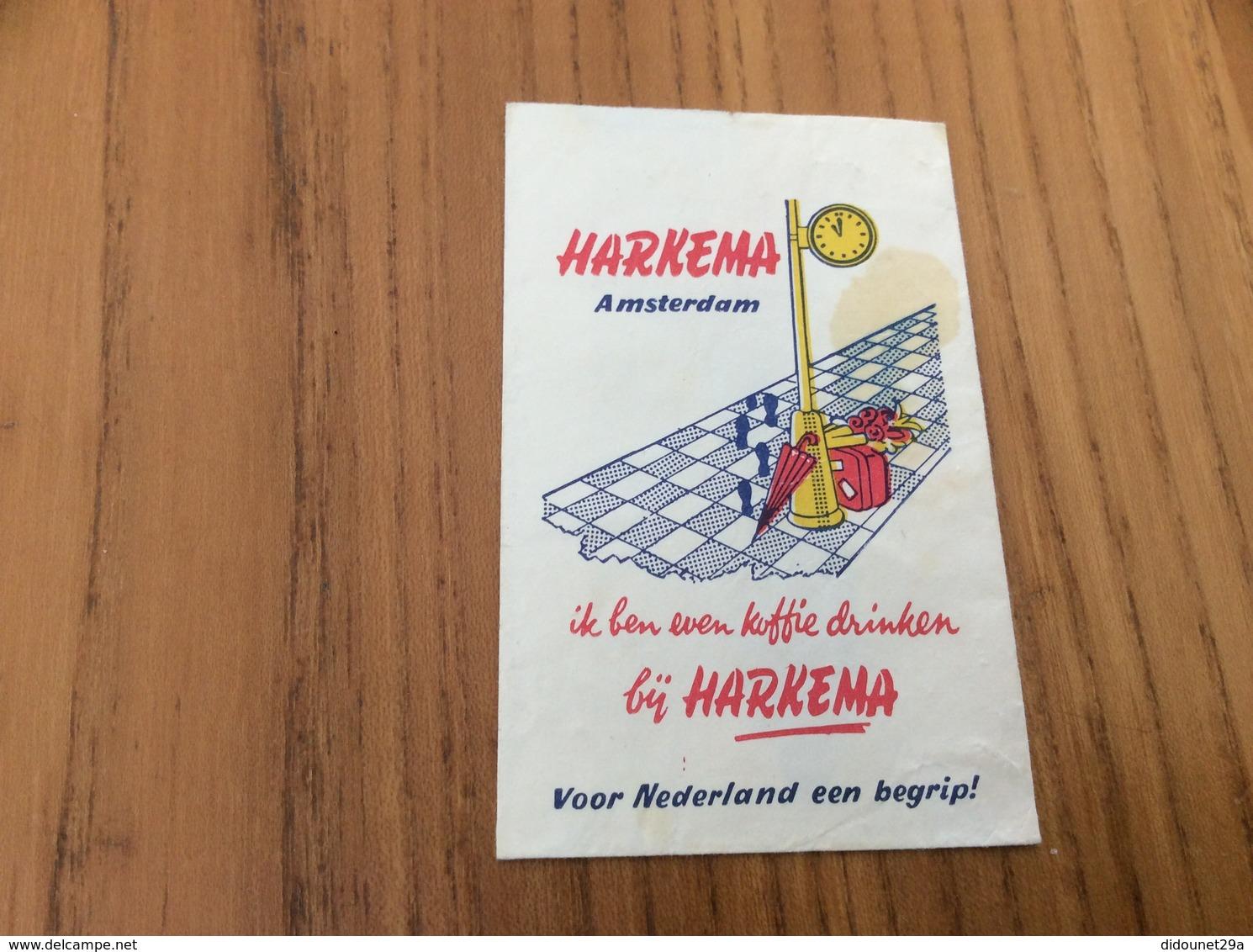 Ancien Sachet De Sucre Pays-Bas Suiker «HARKEMA - AMSTERDAM» Années 60 - Sugars