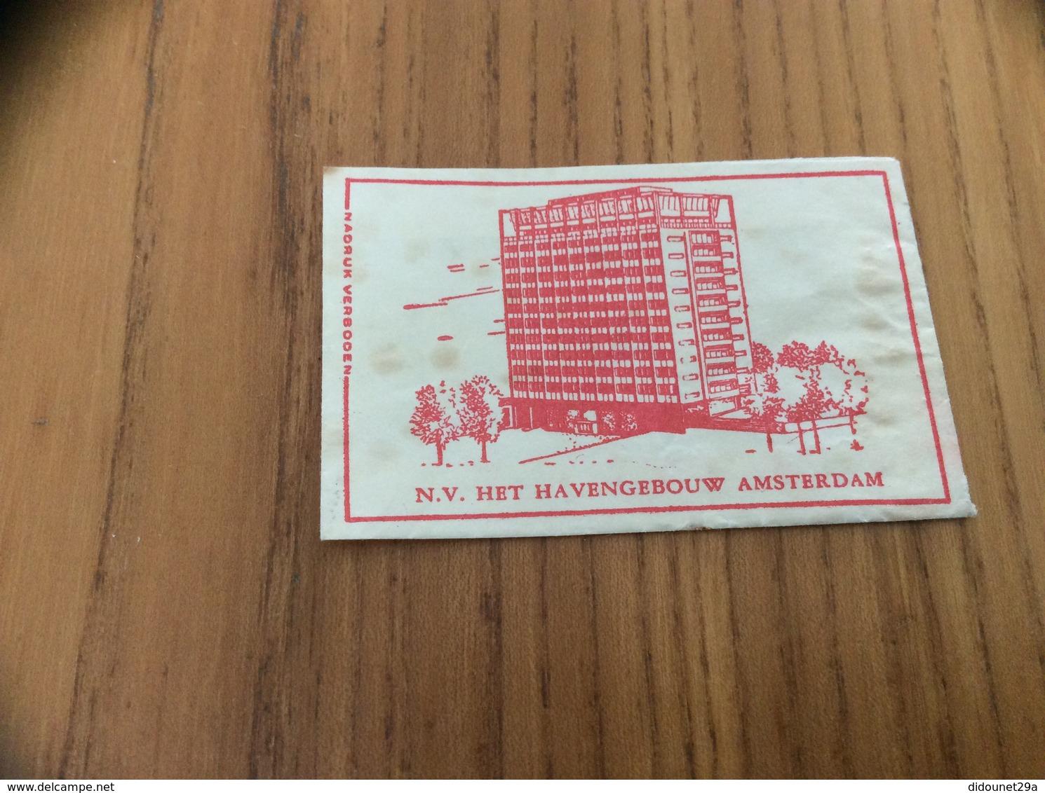 Ancien Sachet De Sucre Pays-Bas Suiker (rouge) «N.V. HET HAVENGEBOUW - AMSTERDAM» Années 60 - Sugars