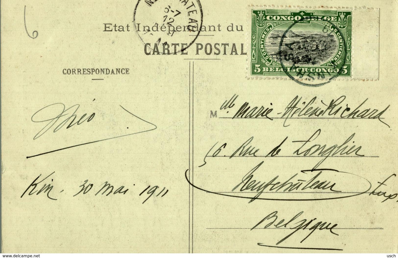 Cpa CONGO BELGE - Femme Makele (Aruwimi), Circulée 1911 KINSHASA - Belgian Congo - Other