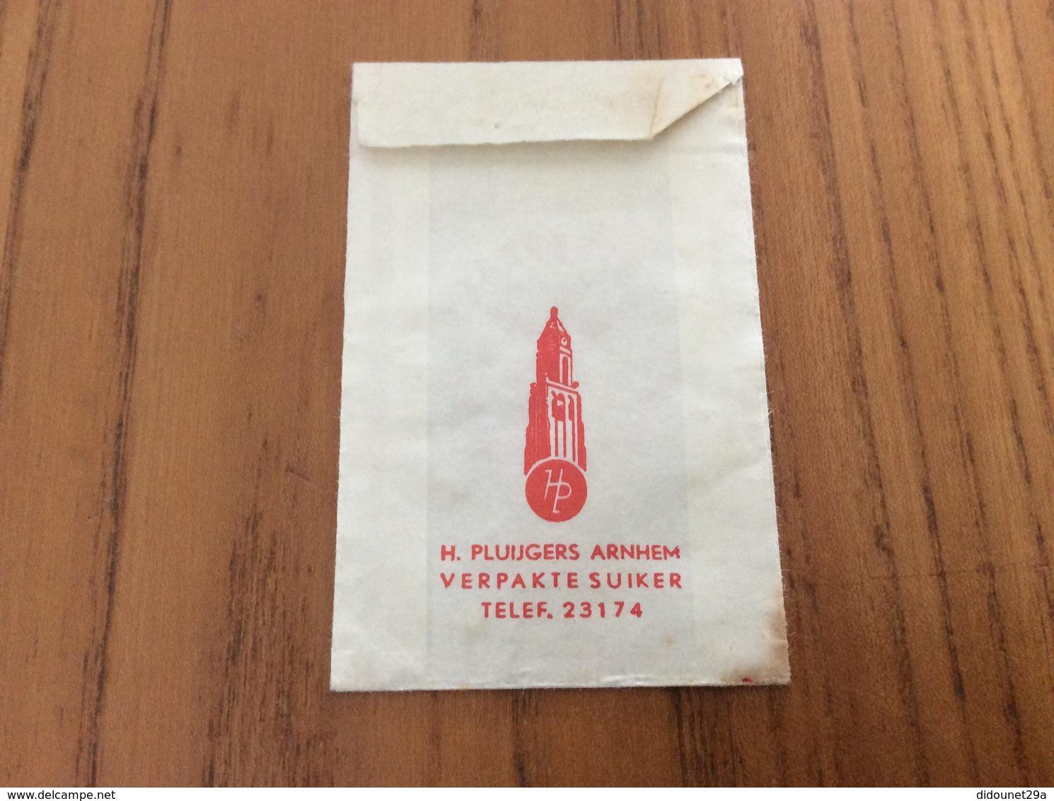 Ancien Sachet De Sucre Pays-Bas Suiker «GEMEENTESPAARBANK - ARNHEM» Années 60 (abeille) - Sugars