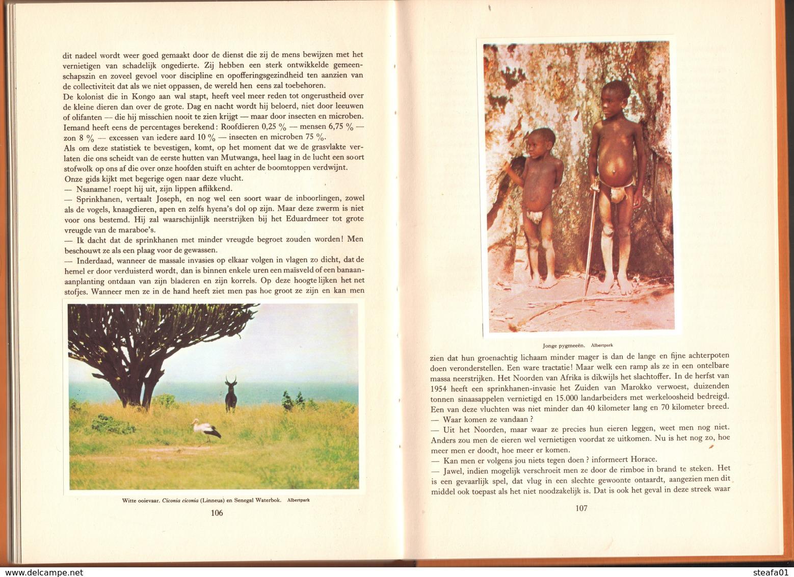 """Belgisch Congo, Congo Belge, Compleet Album """"De Nationale Parken Van Belgisch Congo, 1957, COLLECTORS! - Other"""