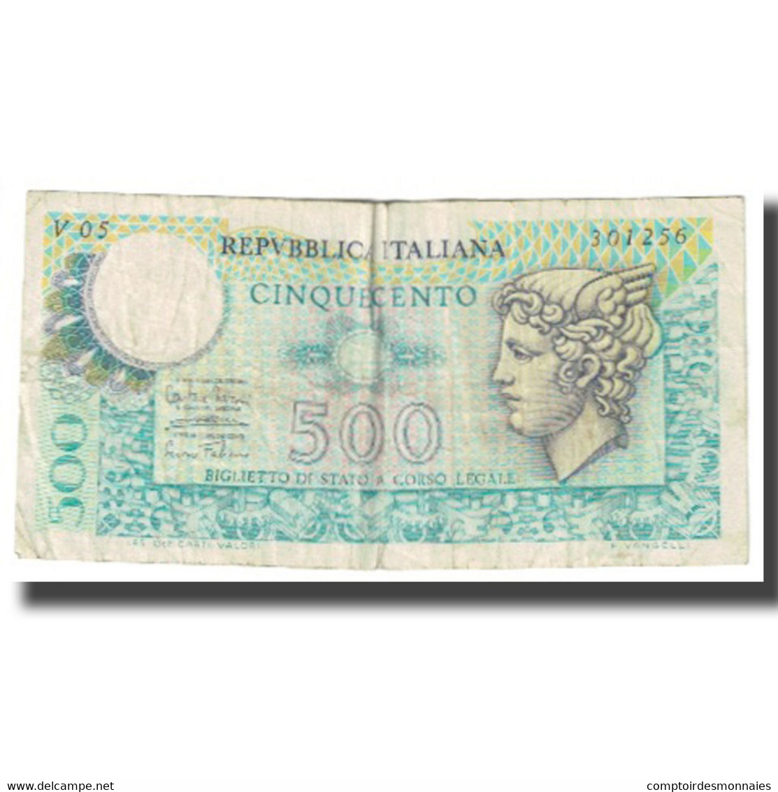 Billet, Italie, 500 Lire, KM:95, TB - [ 2] 1946-… : Repubblica