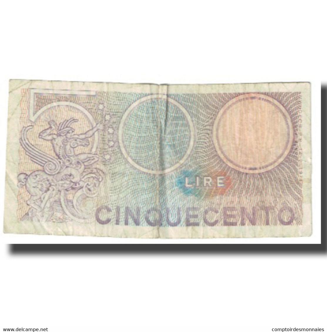 Billet, Italie, 500 Lire, KM:95, TB - 500 Lire
