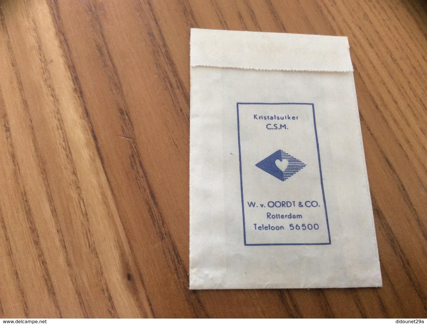 Ancien Sachet De Sucre Pays-Bas Suiker «LABORATORIUM VOOR WARMTE ENSTOFTECHNIEK - DELFT» Années 60 - Sugars