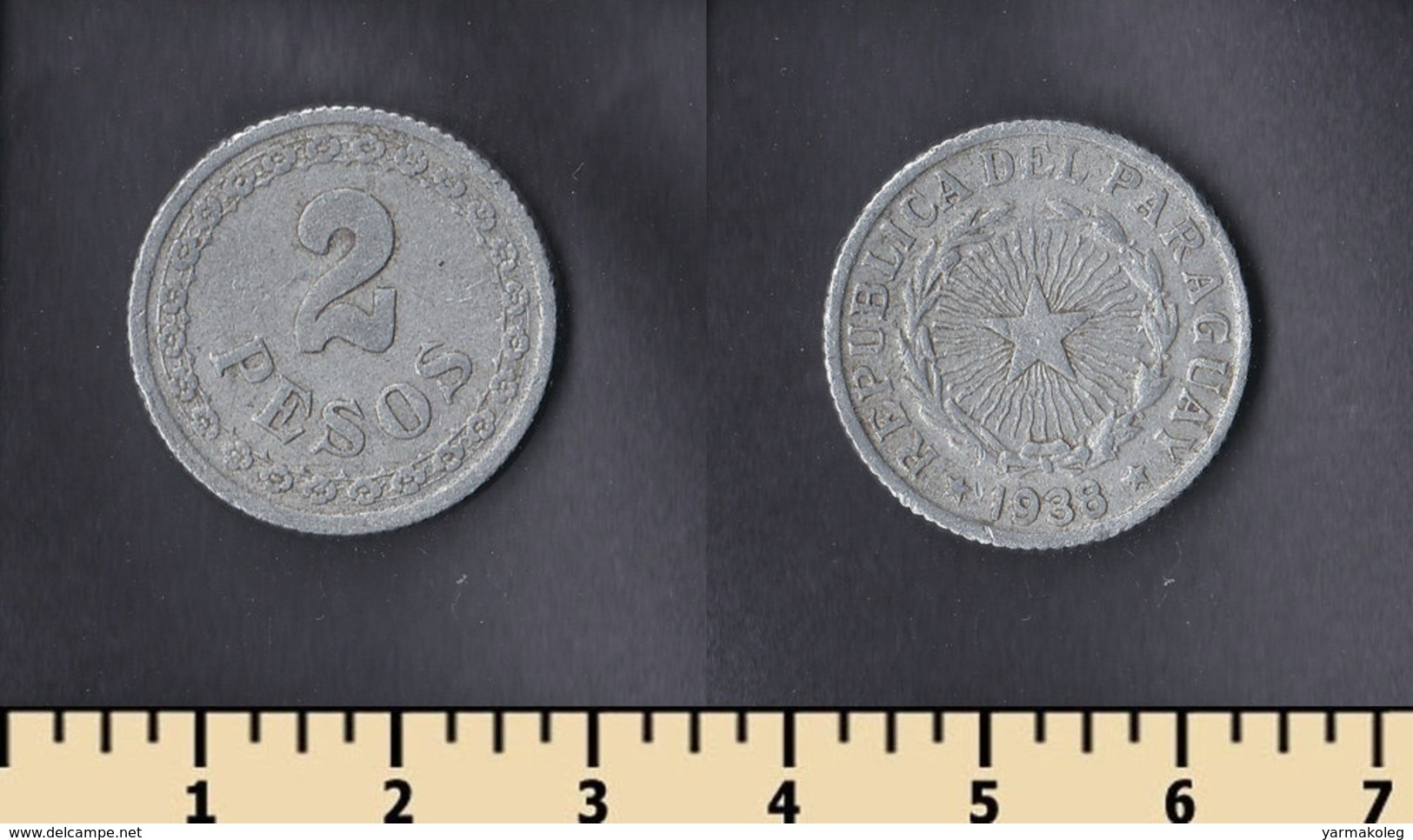 Paraguay 2 Pesos 1938 - Paraguay
