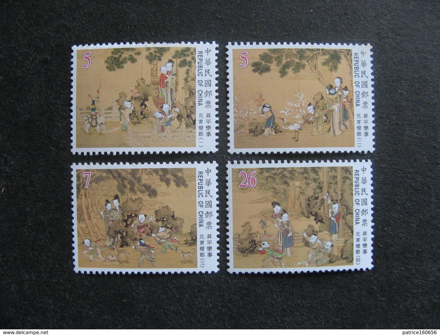 TAIWAN ( FORMOSE) : Série N° 2439 Au N° 2442, Neufs XX. - 1945-... République De Chine