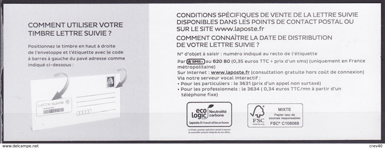 Feuillet Avec TP AA Neuf ** France 2018 - Marianne L'Engagée Lettre Suivie 20 Gr - 2018-... Marianne L'Engagée