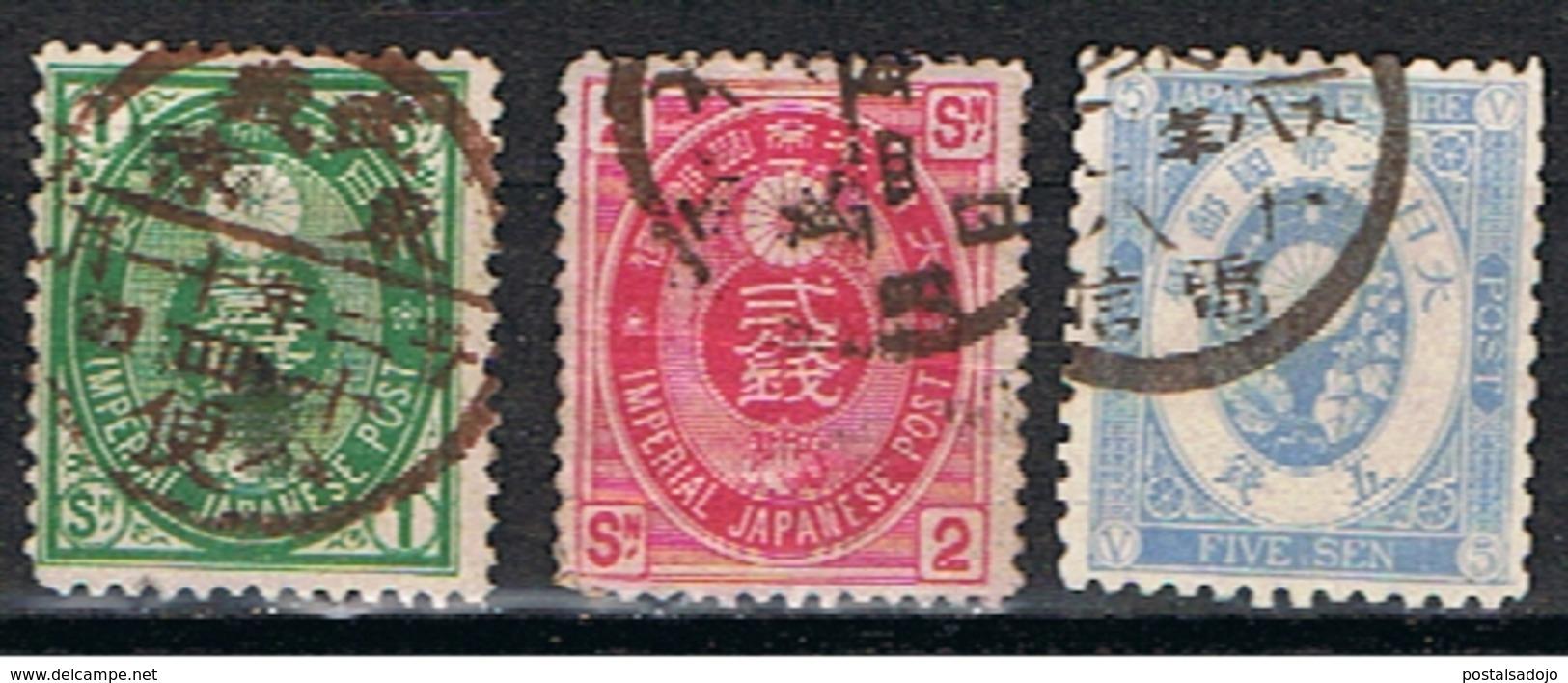 (J 317) JAPON // YVERT 61, 63, 65 // 1879-83 - Japon