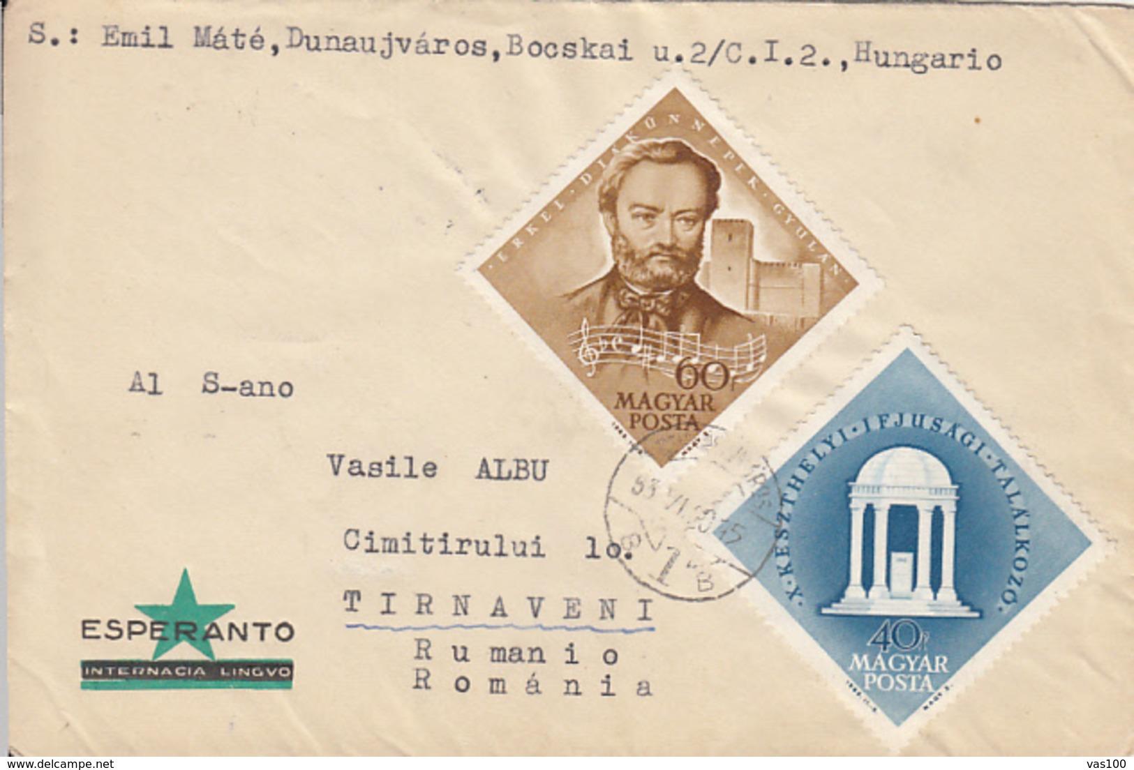LANGUAGES, ESPERANTO, SPECIAL COVER, 1963, HUNGARY - Esperanto