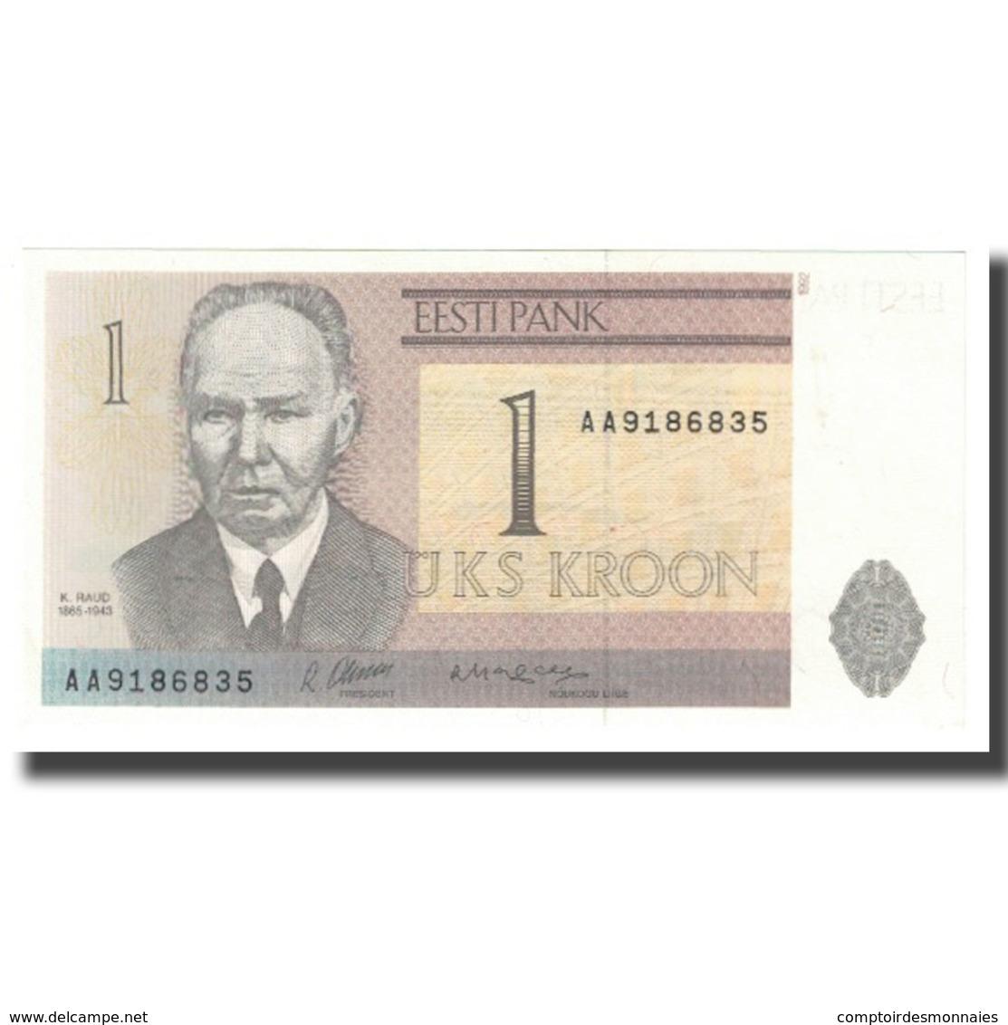 Billet, Estonia, 1 Kroon, KM:69a, NEUF - Estonia