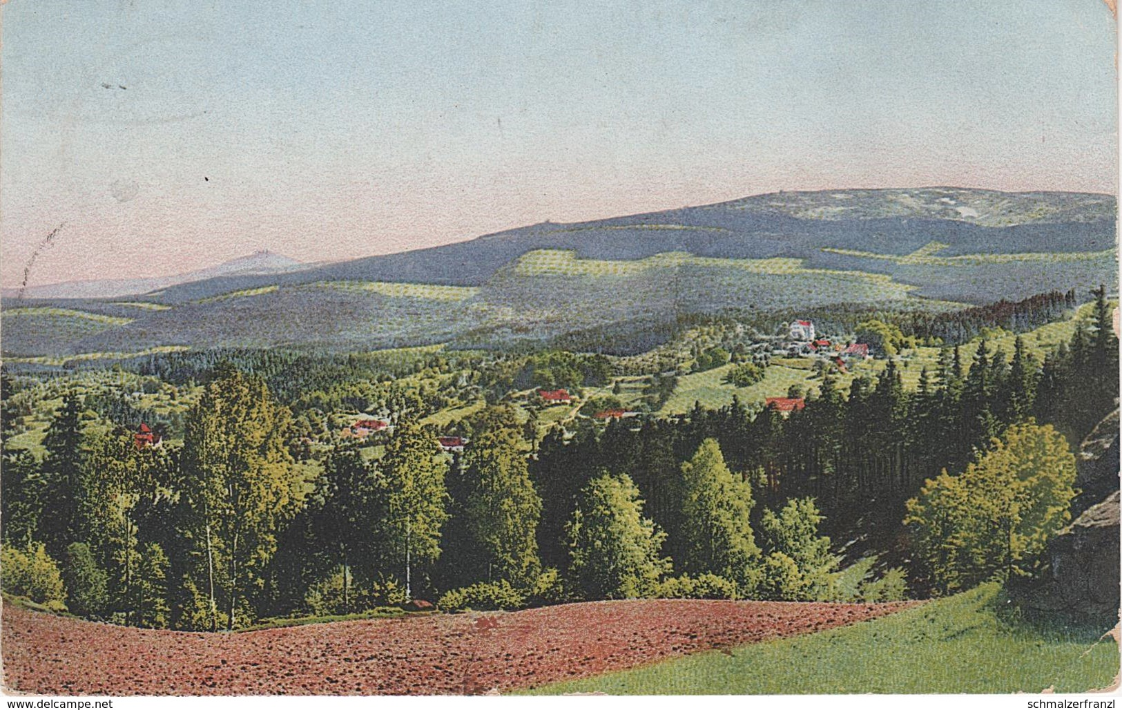Photochromie AK Stimmungsbilder Riesengebirge Hain Przesieka A Giersdorf Podgorzyn Krummhübel Karpacz Saalberg Seidorf - Sudeten