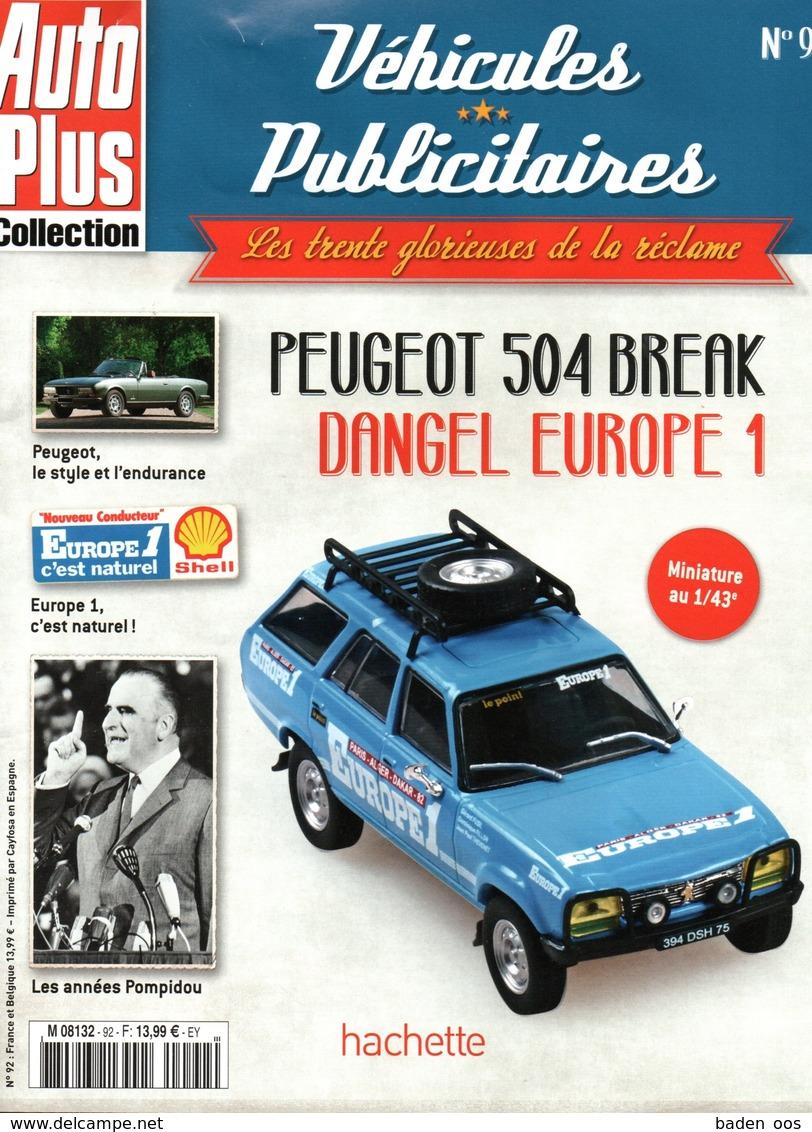 Fascicule Peugeot 504 Europe 1 - SANS LA MINIATURE - Literature & DVD