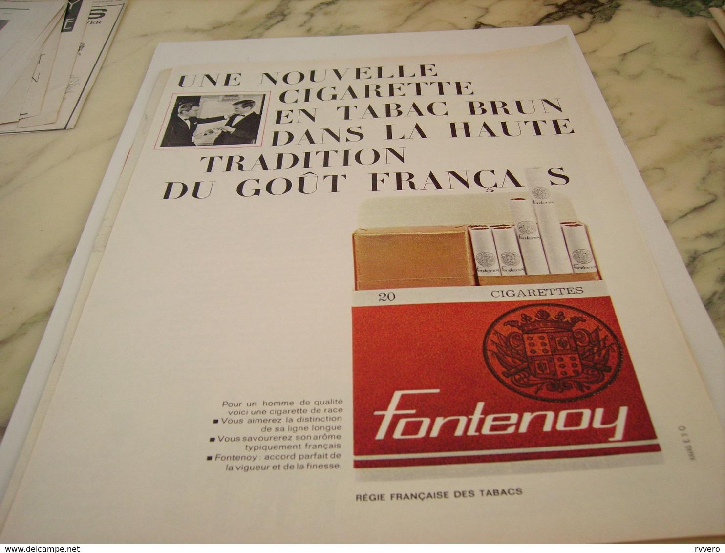 ANCIENNE PUBLICITE CIGARETTE FONTENOY TABAC BRUN 1963 - Publicités