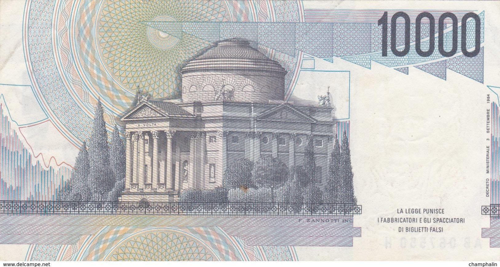 Italie - Billet De 10000 Lire - A. Volta - 3 Septembre 1984 - Presque Neuf - 10000 Lire