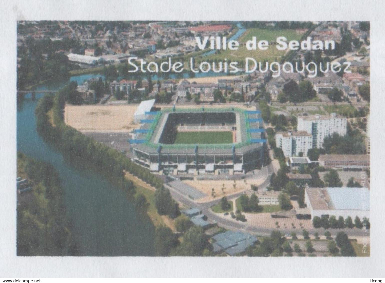 SEDAN ARDENNES 08 - LE STADE DE FOOTBALL LOUIS DUGAUGUEZ, PAP ENTIER POSTAL VOYAGE EN 2010, VOIR LES SCANNERS - Fussball