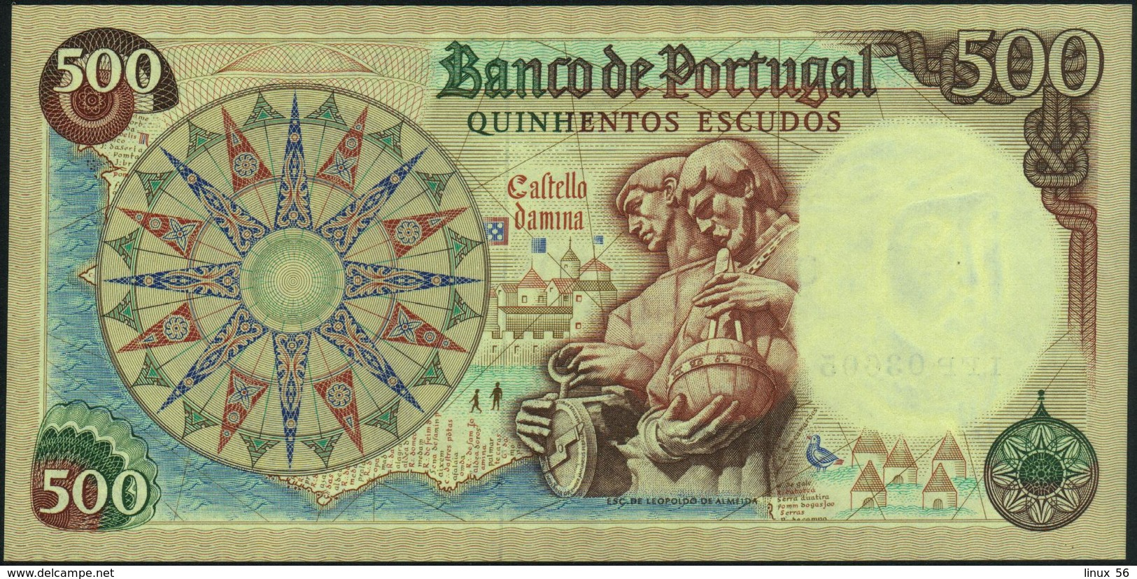 PORTUGAL - 500 Escudos 25.01.1966 AU-UNC P.170 A(1) - Portugal