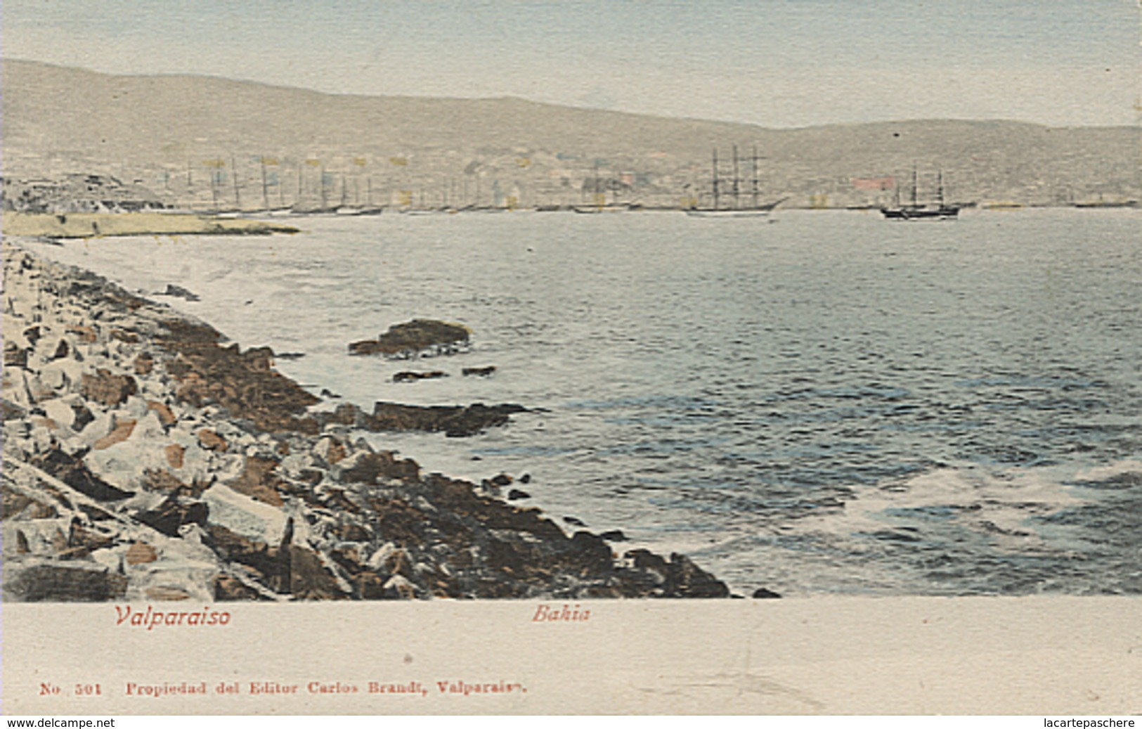 X116020 CHILI CHILE VALPARAISO BAHIA PRECURSOR PRECURSEUR AVANT 1904 ANTES DE 1904 - Chili