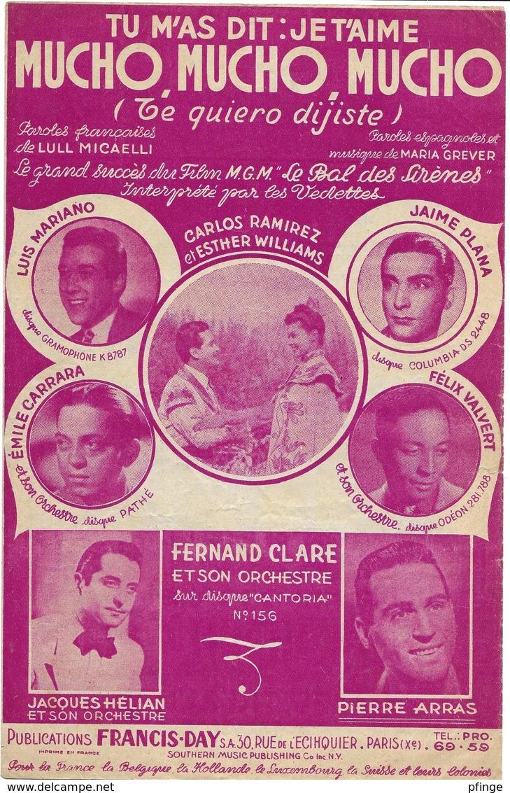 Mucho,mucho,mucho - Luis Mariano... (p : Lull Micaelli ;  M :Maria Grever), 1947 - Non Classés