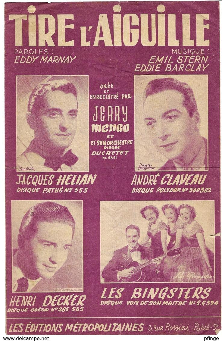 Tire L'aiguille- Jacques Hélian, André Claveau... (p : Eddy Marnay ;  M :Emile Stren& Eddie Barclay), 1952 - Musique & Instruments