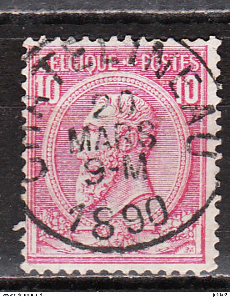 46  Oblitération Centrale CHATELINEAU - LOOK!!!! - 1884-1891 Leopold II