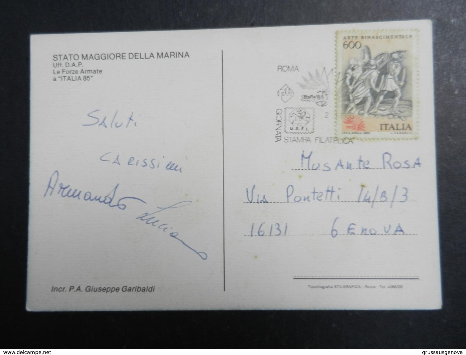 19943) INCROCIATORE PORTAEREI GIUSEPPE GARIBALDI  VIAGGIATA 1985 - Guerra