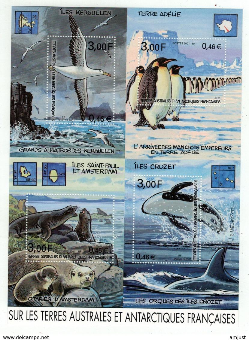 T.A.A.F. // 2001 //  Bloc-feuillet No.5 Y&T Neuf**  Collection Jeunesse Sur Les Terres Australes Et Antarctiques - Blocs-feuillets