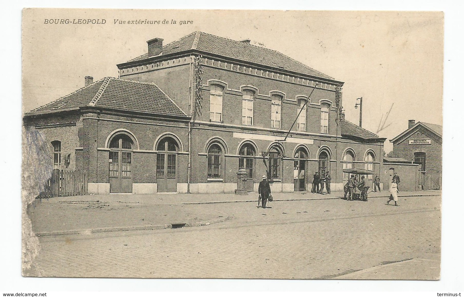 Bourg-Léopold. Vue Extérieure De La Gare. - Leopoldsburg