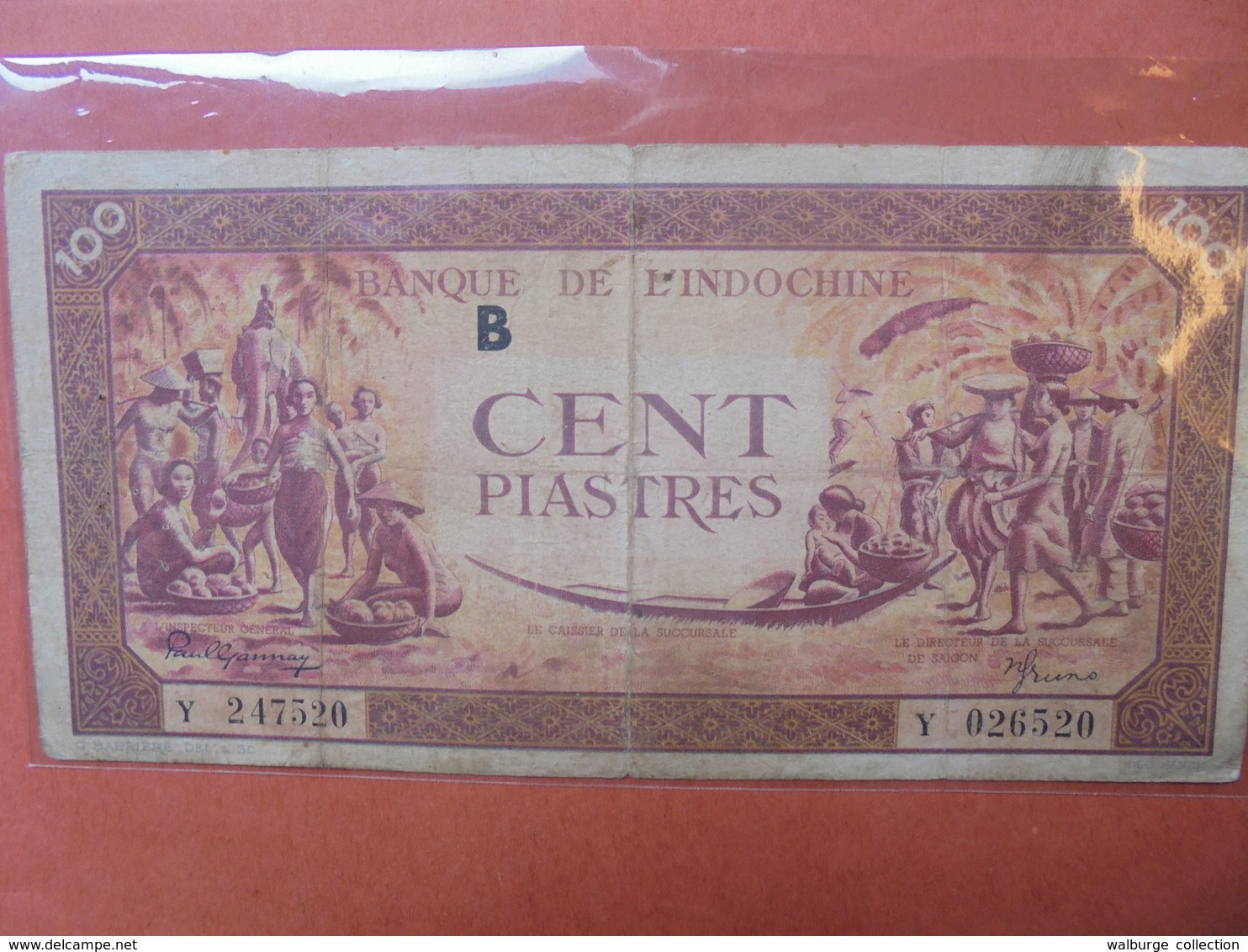 INDOCHINE FRANCAISE 100 PIASTRES 1942-45 CIRCULER (B.3) - Indochine